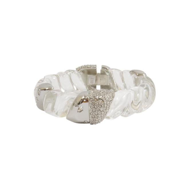 Alexis Bittar Embellished Clear Cuff Bracelet JEWELRY Alexis Bittar Default Title