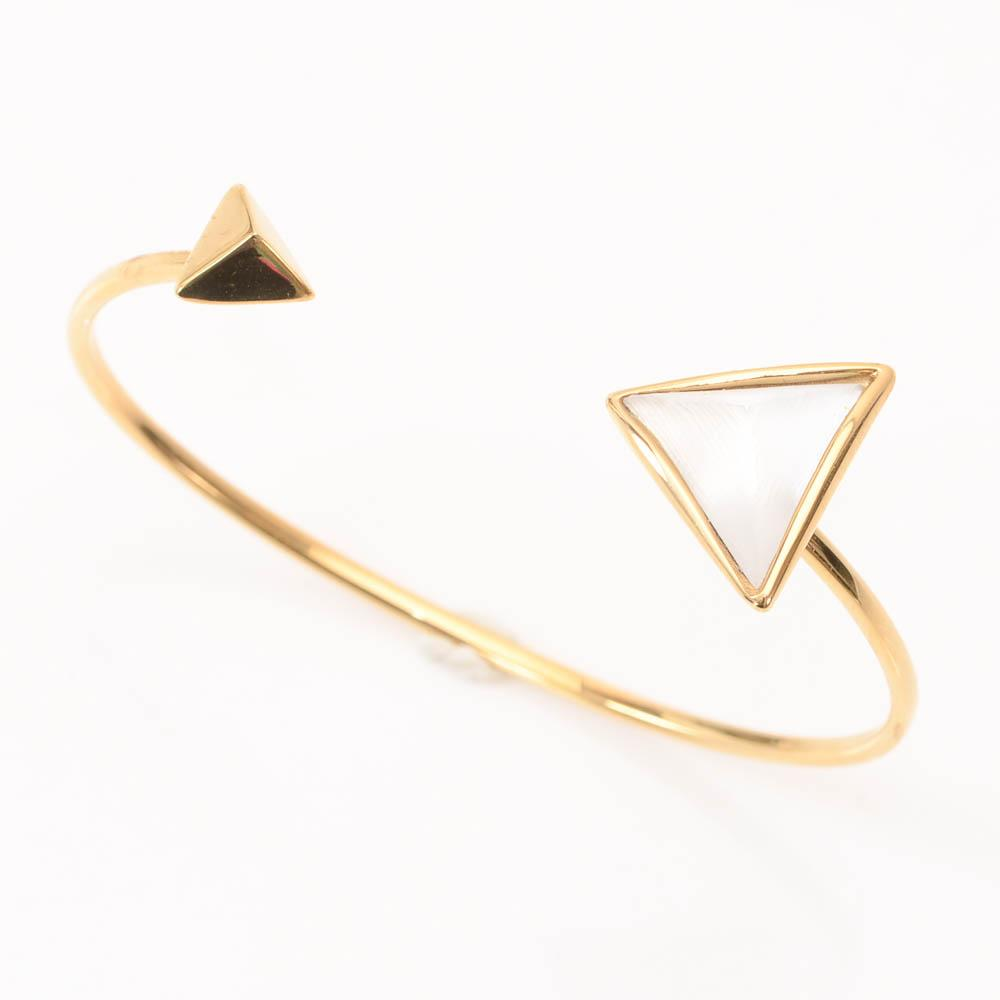 Alexis Bittar Lucite Pyramid Cuff Bracelet JEWELRY Alexis Bittar Default Title