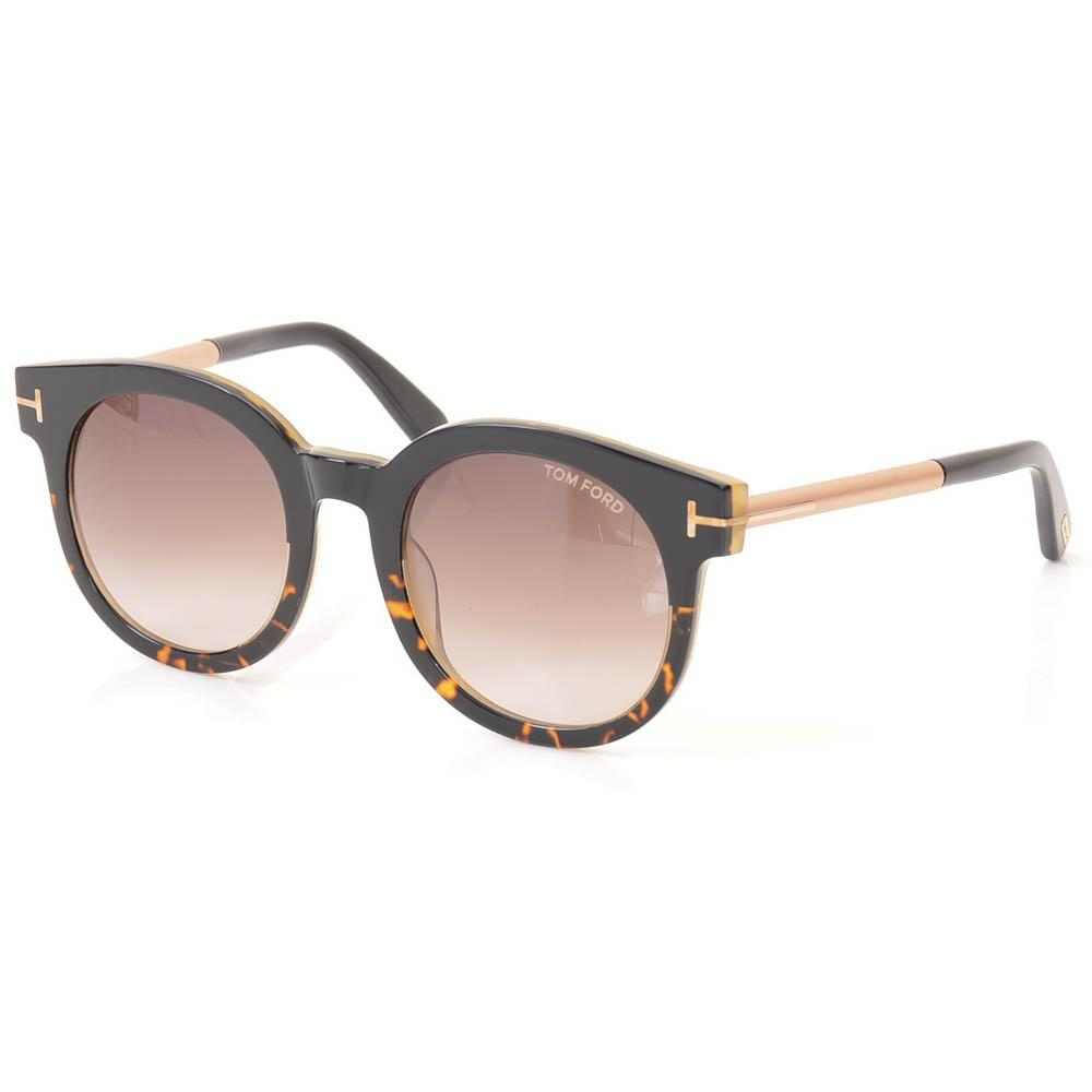 Tom Ford Janina Havana Round Sunglasses ACCESSORIES Tom Ford 51-22-140 Black