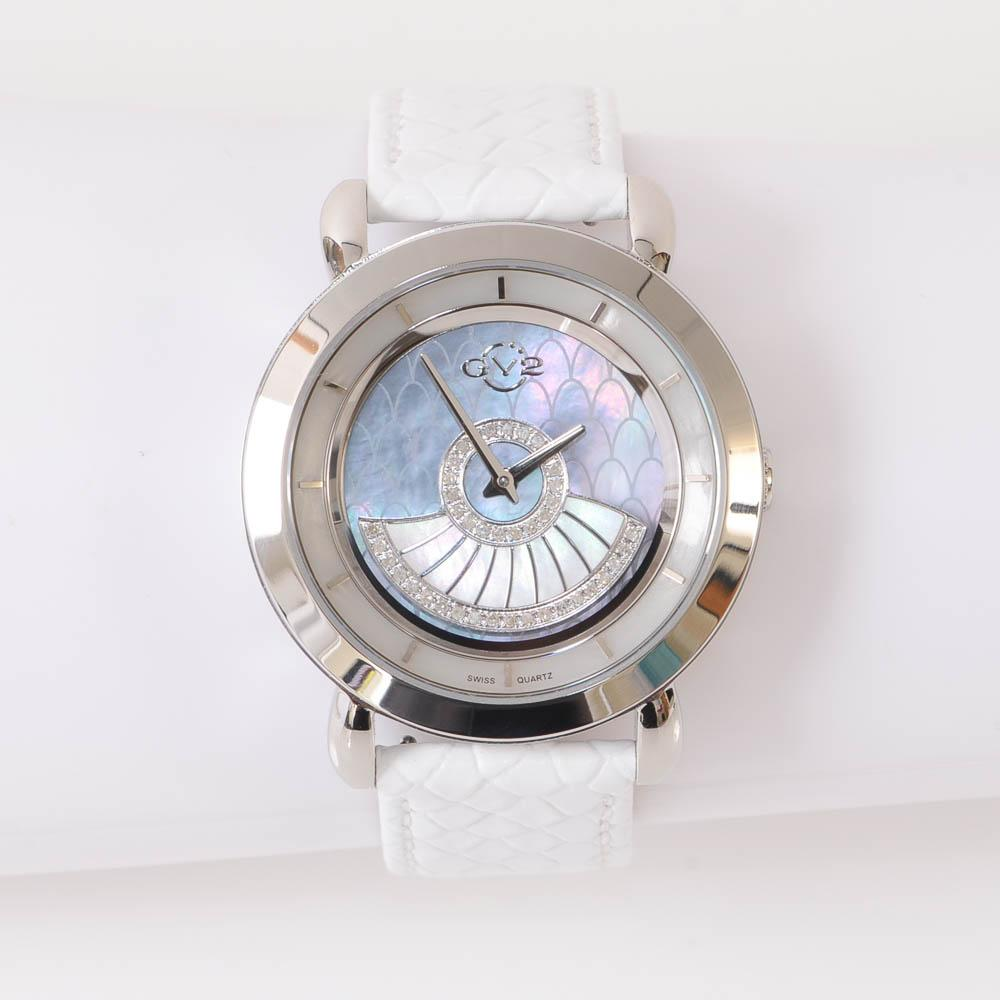 GV2 by Gevril Catania Crystal Scale Mother of Pearl Ladies Watch JEWELRY GV2 by Gevril