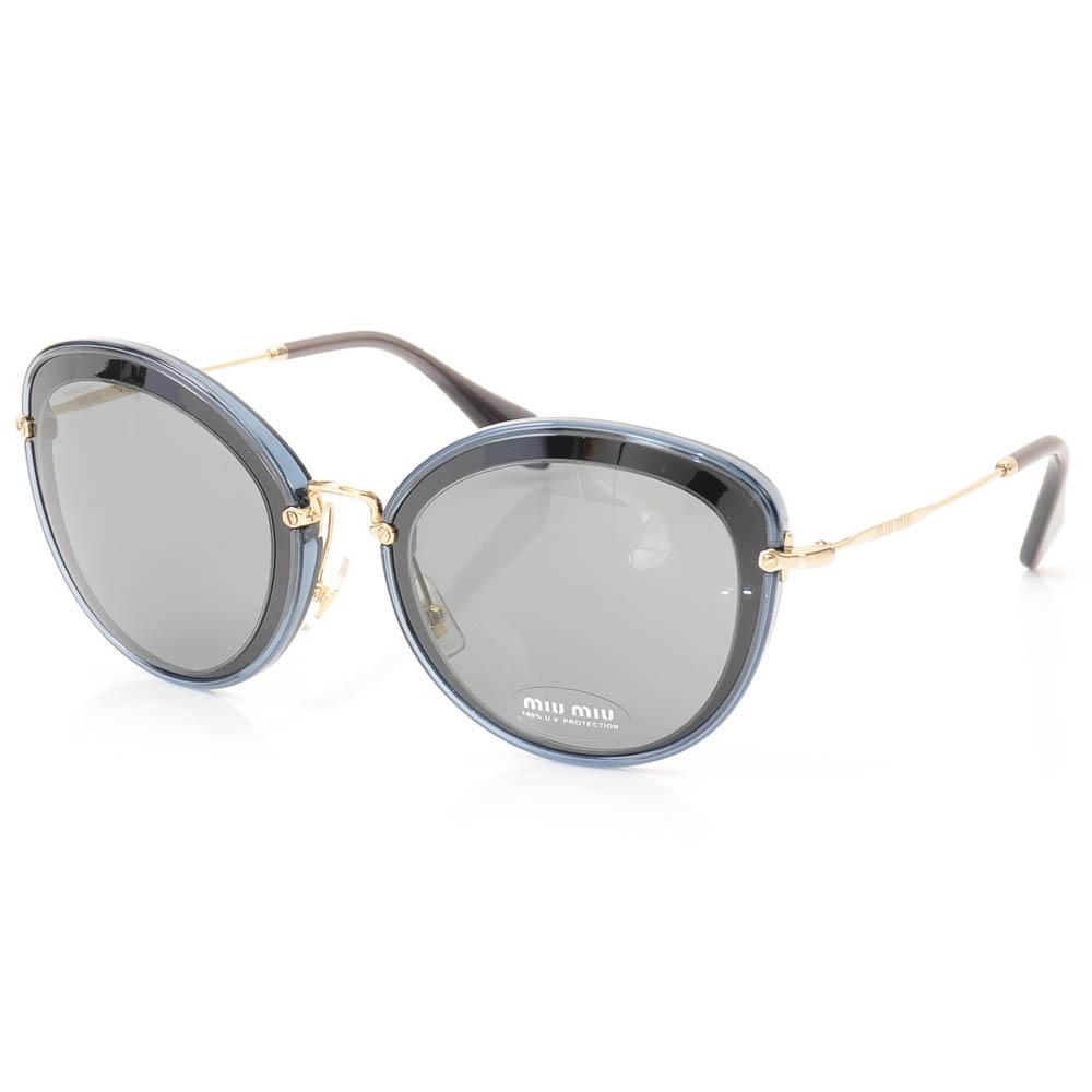 Miu Miu Oval Plastic Frame Sunglasses ACCESSORIES Miu Miu Blue