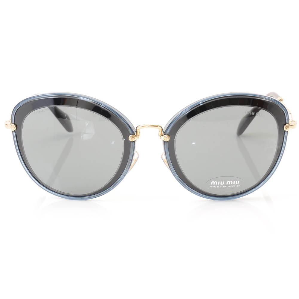 Miu Miu Oval Plastic Frame Sunglasses ACCESSORIES Miu Miu