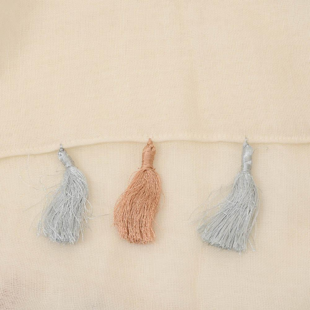 Barney's New York Sheer Tassel Trim Scarf ACCESSORIES Barney's New York