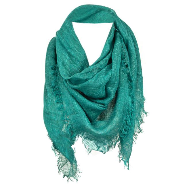 Barney's New York Woven Fringe Scarf ACCESSORIES Barney's New York Blue
