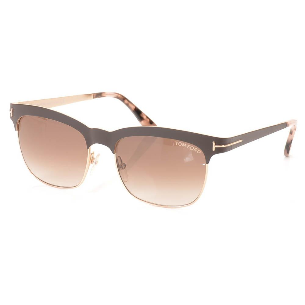 Tom Ford Elena Metal Square Sunglasses ACCESSORIES Tom Ford 54-17-135 Brown