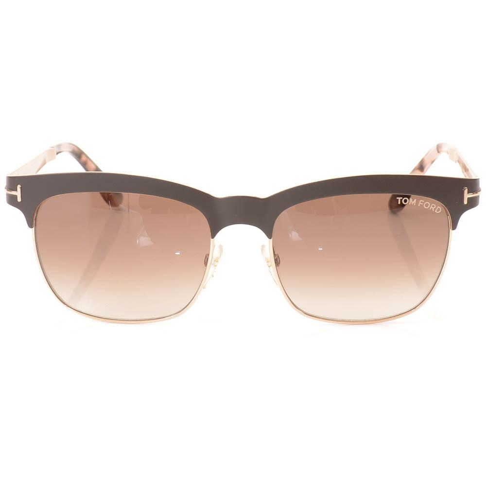 Tom Ford Elena Metal Square Sunglasses ACCESSORIES Tom Ford