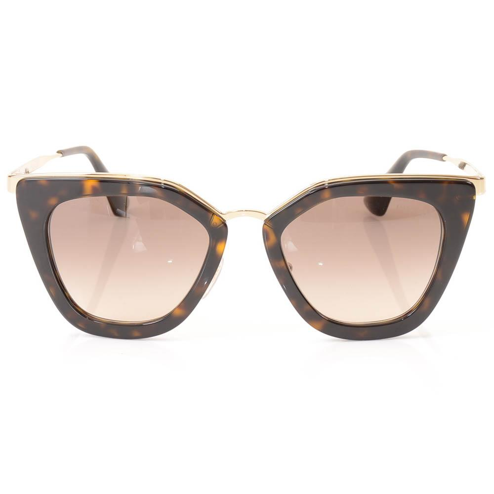 Prada Metal Trim Havana Cat Eye Sunglasses ACCESSORIES Prada