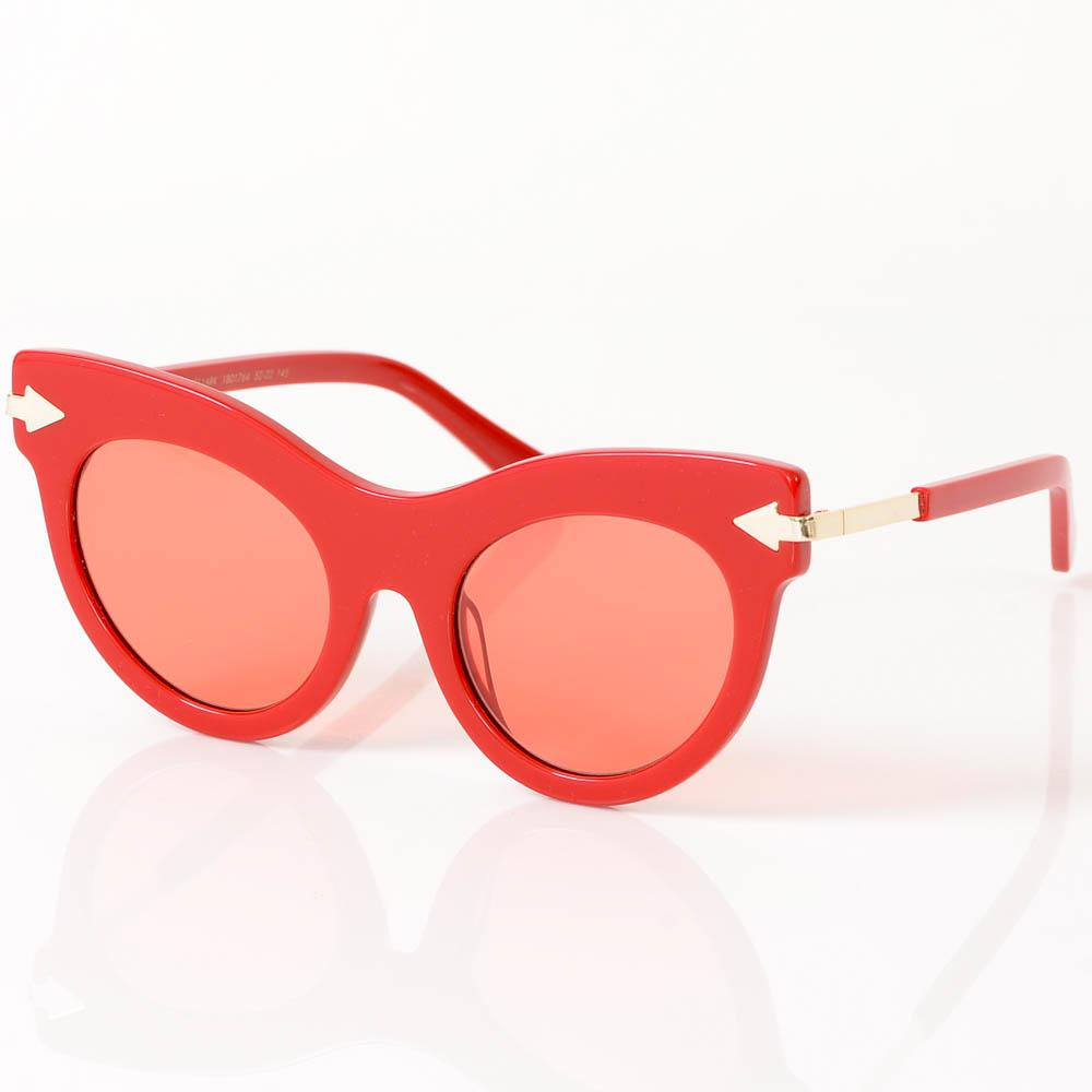 Karen Walker Miss Lark Arrow Cat Eye Frame Sunglasses ACCESSORIES Karen Walker 52-22-145 Red
