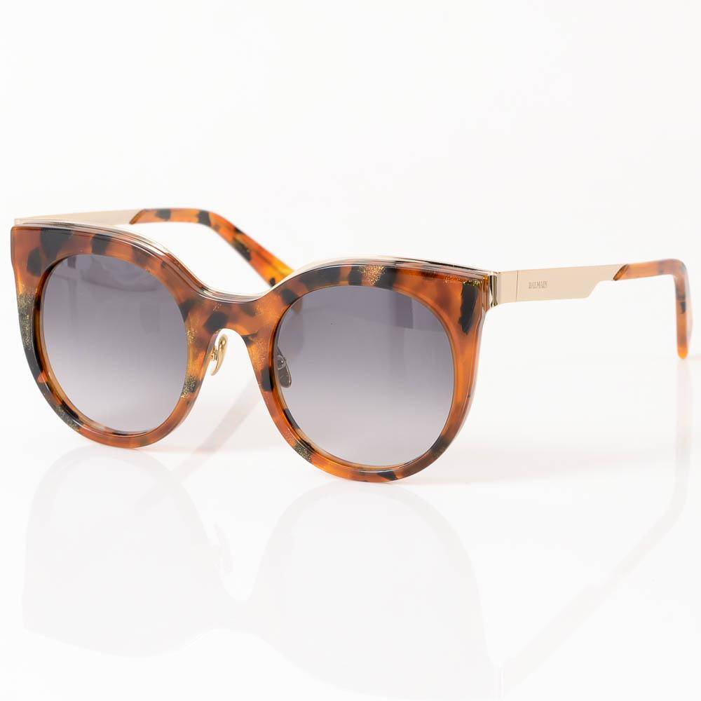 Balmain Glitter Tortoise Cat Eye Frame Sunglasses ACCESSORIES Balmain 51-23-140 Brown