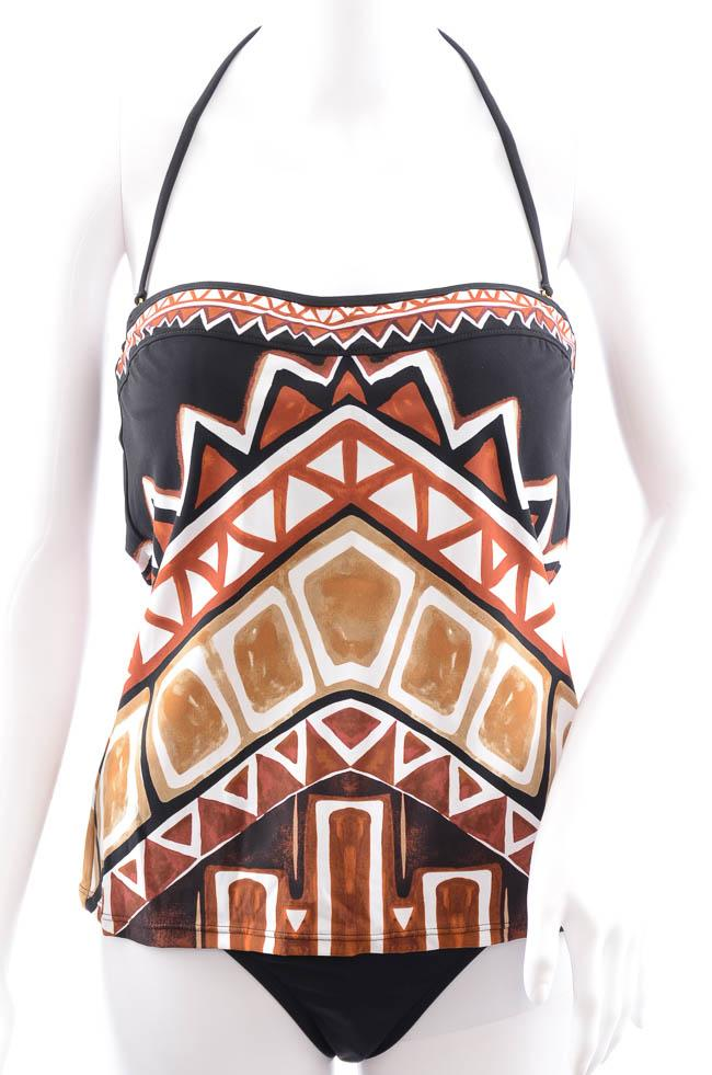 La Blanca Geometric Print 2 Piece Tankini Swim Set - 10 APPAREL La Blanca 10 Brown