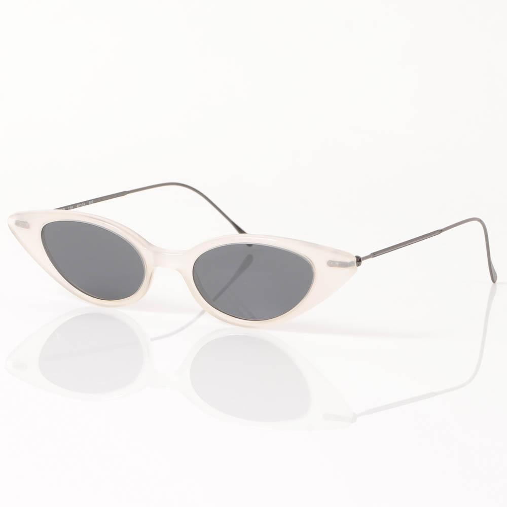 Illesteva Marianne Slim Cat Eye Frame Sunglasses ACCESSORIES Illesteva 48-19-140 White