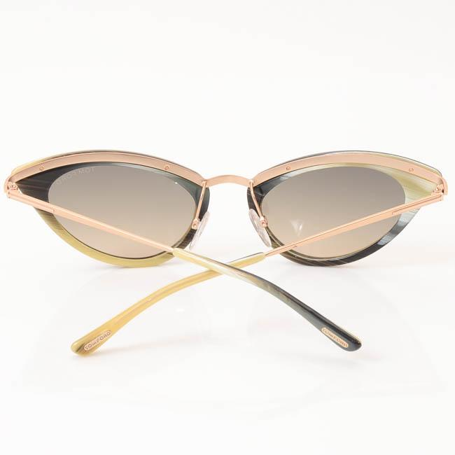 Tom Ford Grace Striped Cat Eye Frame Sunglasses ACCESSORIES Tom Ford