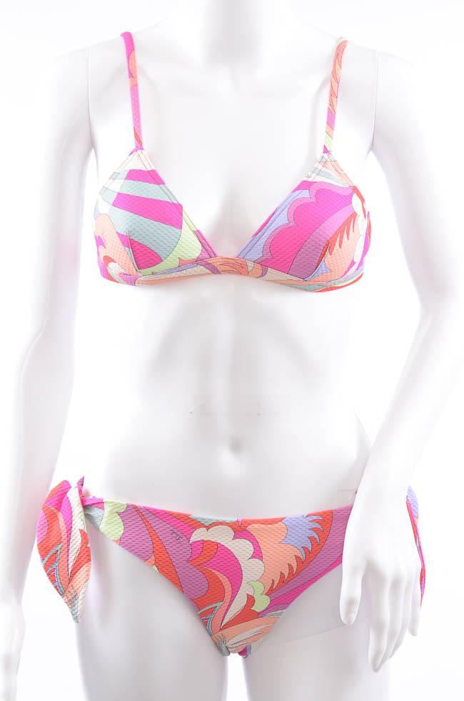 Emilio Pucci Textured 2 Piece Abstract Print Bikini Swim Set - 4 APPAREL Emilio Pucci 4 Pink