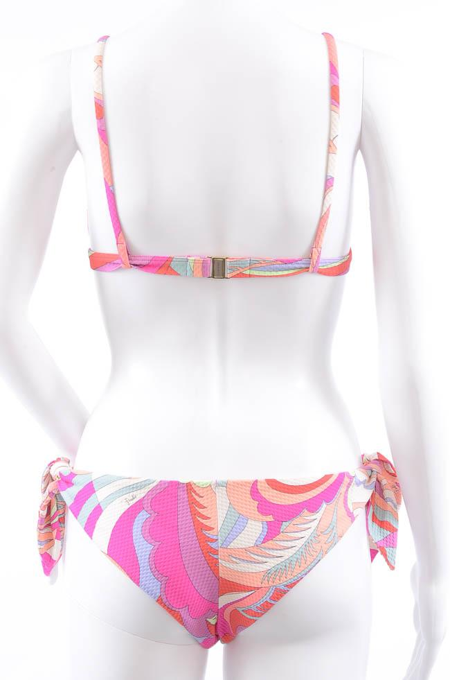 Emilio Pucci Textured 2 Piece Abstract Print Bikini Swim Set - 4 APPAREL Emilio Pucci