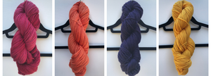 Collegiate color yarn and college-themed kits hand dyed in the US