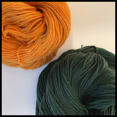 university of Alaska green and gold team spirit collegiate color yarn