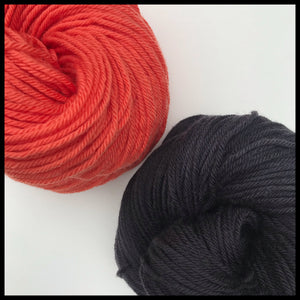 Oregon state black and orange color yarn