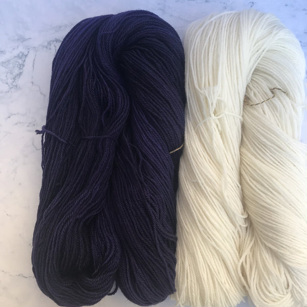 Penn state university blue and white color yarn
