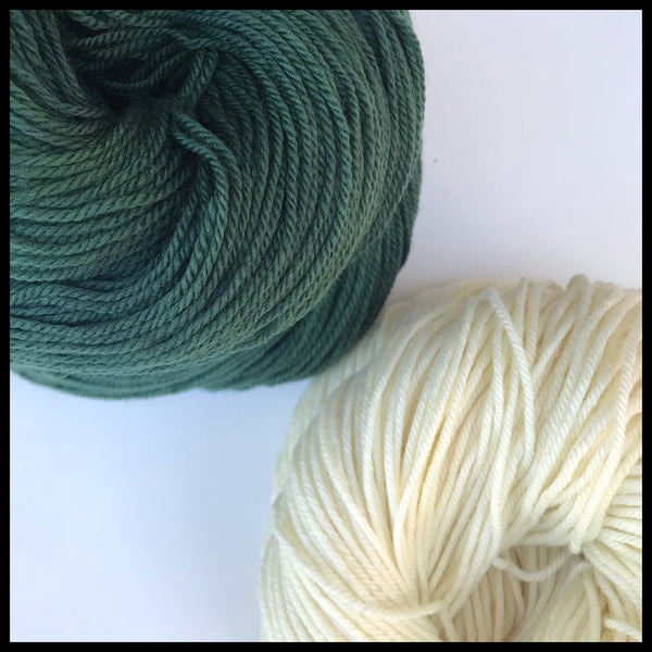 Portland State green and white color yarn team spirit college school