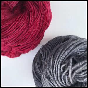 Ohio State red and gray color yarn team spirit college-themed