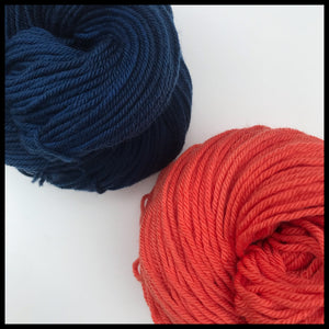 Univeristy of Illinois Fighting Illini blue and orange color yarn