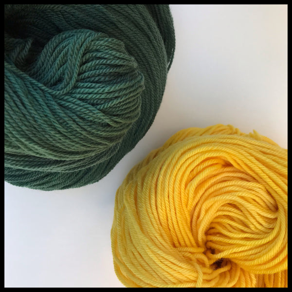 University of Oregon green and yellow color yarn college-themed