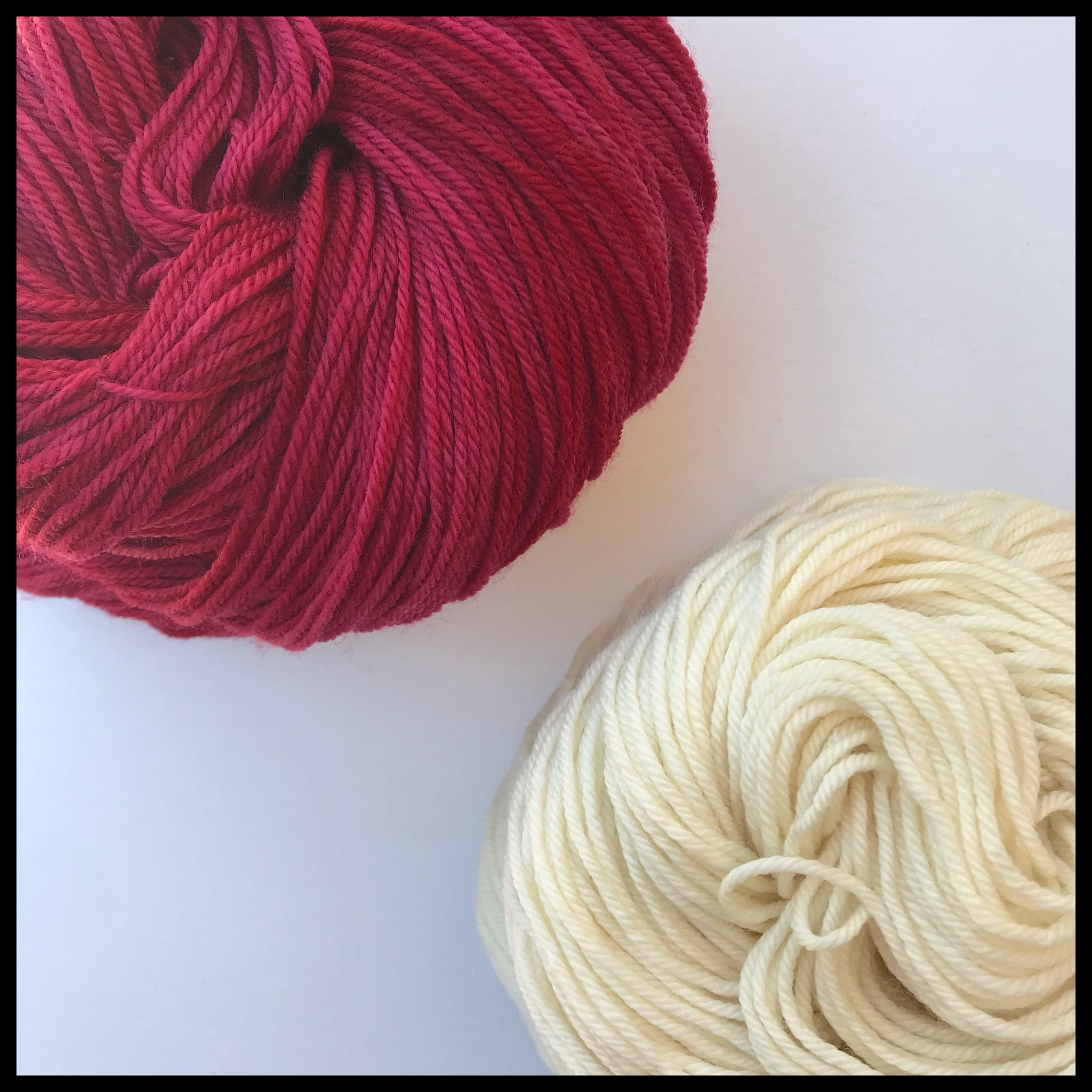 University of Wisconsin red and white color yarn