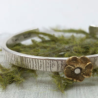 Rust and Leaf Vintage Tree Bark Cuff