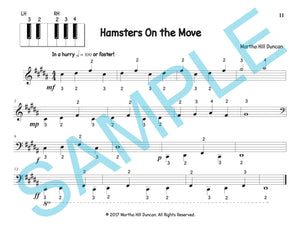 One page score sample for Hamsters on the Move