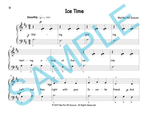 One page score sample for Ice Time