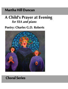 Cover image for A Child's Prayer at Evening SSA