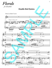 One page score sample for Double Red Daisies