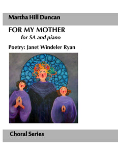 Cover for For My Mother SA and piano