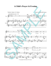 A CHILD'S PRAYER AT EVENING - Medium/High Voice & Piano from SINGING IN THE NORTHLAND, VOL. 1
