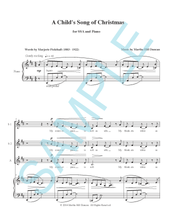 A CHILD'S SONG OF CHRISTMAS FOR SSA AND PIANO