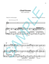 CLOUD DREAMS - Medium/High Voice & Piano from SUMMER