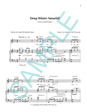 DEEP WINTER SNOWFALL - Medium/High Voice & Piano for SEARCHING THE PAINTED SKY