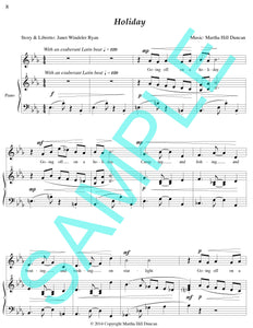 One page score sample for Holiday