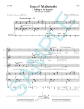 LULLABY OF THE IROQUOIS FOR SSA AND PIANO