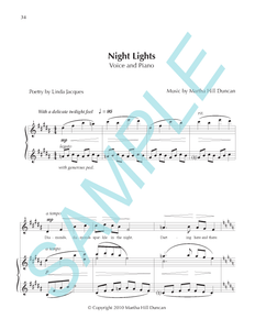 NIGHT LIGHTS - Medium/High Voice & Piano from SUMMER