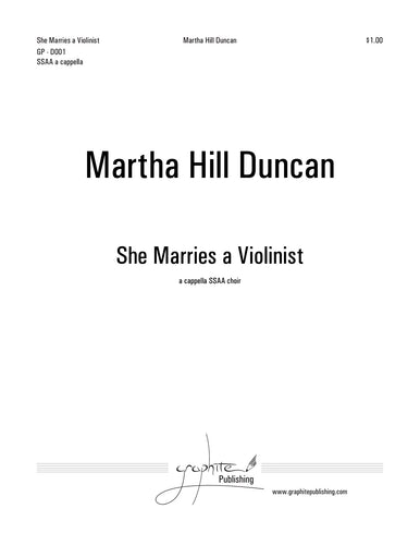SHE MARRIES A VIOLINIST FOR SSAA