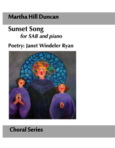 SUNSET SONG FOR SAB AND PIANO