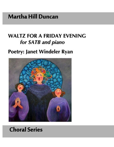 WALTZ FOR A FRIDAY EVENING FOR SATB AND PIANO