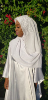 Amarella Chiffon Wedding Hijab and Veil Set