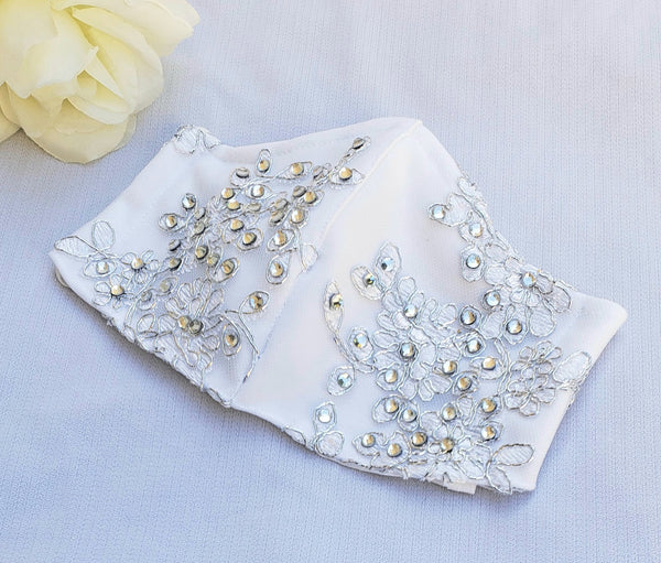 Crystal Bridal Face Mask