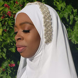 Small Crystal Wedding Hijab Set - Veiled In Color
