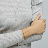 CLUSE Essentielle Gold Set Twisted and Hexagon Chain Bracelet CLJ11019 - Bracelets on wrist