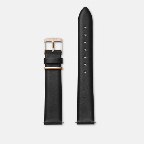 Image: CLUSE 16 mm Strap Black/Rose Gold CLS603 - strap