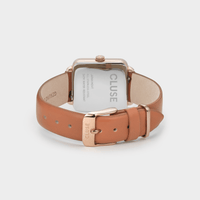 CLUSE La Tétragone Leather Rose Gold Soft Rose Gold/Butterscotch CW0101207008 - Watch clasp and back
