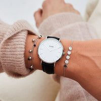 CLUSE Essentielle Silver Hexagons Chain Bracelet CLJ12007 - bracelet on wrist
